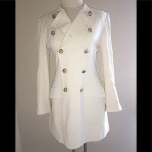 DKNY donna Karan NY white jacket size 8